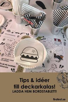 Här får du tips, idéer och inspiration för att fixa roligaste detektivkalaset. Ladda hem en fin bordstablett att duka med!  #barnkalas #kalas #detektivkalas #deckarkalas #mysterium #mysteriekalas #mysterium #barn #detektiv #deckare