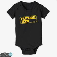 """""""Future Jedi"""" Personalized Star Wars Baby Onesie, Toddler Tee, or Kid's Tee."""