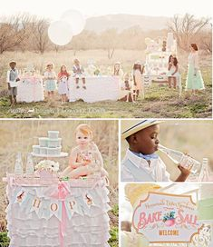 Easter themed vintage bake sale party via Karas Party Ideas | KarasPartyIdeas.com #easter #vintage #bake #sale #party #spring #vintage #ideas