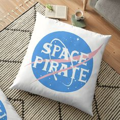 Floor Pillows, Throw Pillows, Space Pirate, Pirates, Pillow Covers, Flooring, Art Prints, Awesome, Stuff To Buy