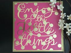 Enjoy the Little Things - Canvas Sign, Girls Room Decor, Dorm Decor, Gold Decor, Gallery Wall, Housewarming Gift, Inspirational Sign by Limepeel on Etsy Gold Accent Decor, Command Strips, Inspirational Signs, Canvas Signs, Dorm Decorations, Little Things, House Warming, Gallery Wall, Room Decor