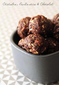 Rêve de gourmandises » Gourmandises aux céréales, fruits secs et chocolat