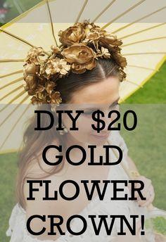 Lady Melbourne's DIY Gold Flower Crown for under $20 | www.ladymelbourne.com.au