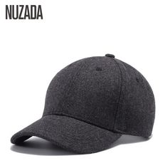 dd9f292ee24 Brand UNIKEVOW Wool Baseball Cap Winter solid Caps Hip Hop hats for men  Unisex Outdoor Snapback Hat high quality