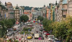 Wenceslas Square (popular street) - Prague, Czech Republic