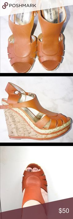 Charles David congnac wedges Charles David cognac wedges size 8. Like new never worn outside. Charles David Shoes Wedges