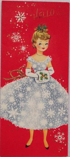 Unused 50s Sweet Boy  Girl Light a Candle-Vintage Christmas Card