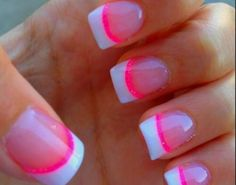 Hot pink French tips