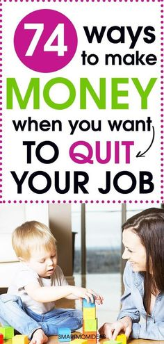 Learn 74 ways to make money and have financial planning as a stay at home mom. Work at home today. Stay At Home Mom, Work From Home Moms, Make Money From Home, Way To Make Money, Make Money Online, Money Fast, Work From Home Opportunities, Quitting Your Job, E-mail Marketing