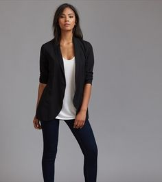 Long Overpiece Blazer Long Weave, Blazer, Cami, Stylish, Sleeves, Jackets, How To Wear, Stage, Closet