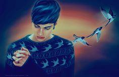 swallows by chouette-e on DeviantArt Walpurgis Night, Art For Art Sake, Beautiful Mind, Amazing Art, Character Art, Fairy Tales, Original Art, Illustration Art, Fan Art