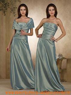 Langes exklusives Abendkleid aus Taft