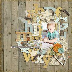 First Day of Preschool - Scrapbook.com #scrapbookideas #scrapbooking101