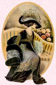 Feathers were used excessively as decoration on hats and as boas. The fur skin of whole animals such as foxes and even two foxes were used as wraps about the shoulders. Aesthetes objected to the use of animal products.