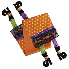 Halloween Witch Legs Table Runner