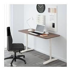BEKANT Escritorio - gris/blanco - IKEA