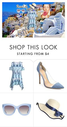 """Summer beauty"" by mexarchopoulou ❤ liked on Polyvore featuring Gianvito Rossi, Alice + Olivia and Gucci"