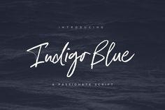 Indigo Blue Font + Swashes by Nicky Laatz on @creativemarket