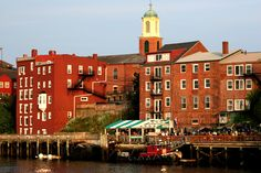 Portsmouth, NH Beautiful city.  We used to eat dinner at the restaurants in this photo.
