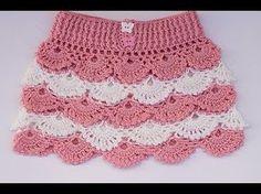 Falda a crochet para niña paso a paso con patrones dentro - YouTube