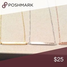 Bundle for Valerie One gold and one silver bar necklace Jewelry