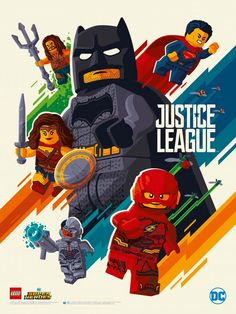 the poster lego : JUSTICE LEAGUE.