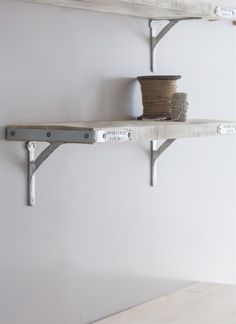 The RAW Scaffold Shelf provides you with a mixture of rustic and industrial storage for the home Decorating Blogs, Interior Decorating, Metal Edging, Bench With Storage, Storage Benches, Storage Shelves, Pantry Room, Small Pantry, Coastal Living Rooms