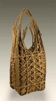 Plaited Mulberry Bark Basket, Dorothy Gill Barnes
