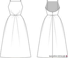 "Pattern dresses ""Orchid"" (r Simple Dresses, Elegant Dresses, Pretty Dresses, Beautiful Dresses, Clothing Patterns, Dress Patterns, Easy Dress Pattern, Sewing Clothes, Diy Clothes"