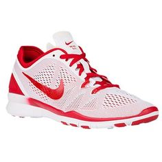 Womens Nike Free 50 Tr Fit 5 White Sport Red Size 115 704674111 ** Check out the image by visiting the link.