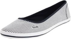 1f8ab31bf879f1  60.00- 60.00 LACOSTE Marthe 5 Slip On Seersucker Flats Womens Shoes Blue  Size 7 -