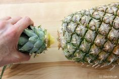 How to choose the perfect pineapple and how to cut the pineapple. With one secret step to making the pineapple extra sweet and juicy.