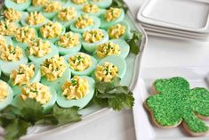 St. Patrick's Day Deviled Eggs