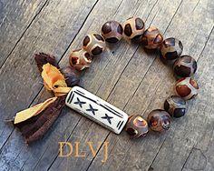 Ancient Tortoise Agate Bone Bracelet by DanasLegacy on Etsy