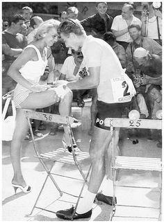 1957 9/7 rit 12 Cannes > Jacques Anquetil on the way to his first Le Tour de France victory... he's 23.  Here pictured in Cannes signing an autograph!