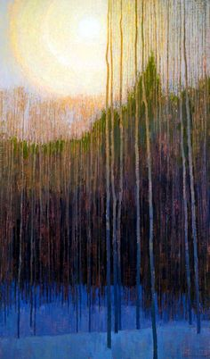 Near Winter's Solstice - David Grossman #painting | rt @SandraEBarreiro #art