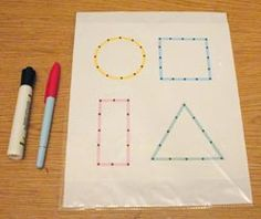Shape tracing - super easy but important math activity. Can't believe I hadn't thought of this earlier, but I'll definitely be doing this with my class soon! Craft Activities For Kids, Classroom Activities, Learning Activities, Preschool Activities, Shape Activities, Teaching Kids, Kids Learning, Tracing Shapes, Learning Shapes
