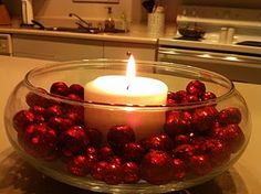 Easy Christmas Centerpiece...do this every year. So pretty!!!