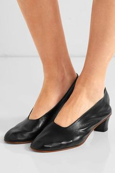 Martiniano - High Glove Leather Pumps - Black