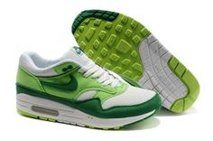 the best attitude 645e0 52b6f Women s Nike Air Max 1 Green White SeaGreen Half-palm Cushion Mesh Training  Shoes