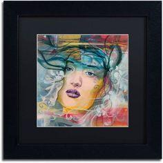 Trademark Fine Art Mirada Lejana Canvas Art by Andrea, Black Matte, Black Frame, Size: 11 x 11