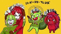Matryoshka Nutty and Flaky by DeletedAnonim on DeviantArt Happy Tree Friends, Htf Anime, South Park, Detailed Image, Bowser, Deviantart, Drawings, Cartoons, Ships