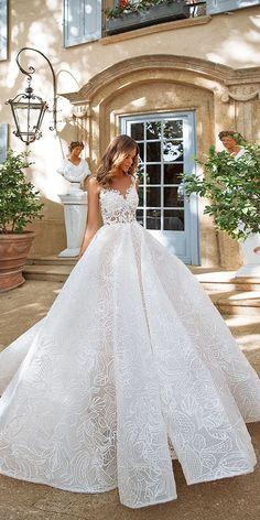 Designer Highlight: Milla Nova Wedding Dresses ❤️ princess lace top sweetheart wedding dresses milla nova 2018 ❤️ See more: http://www.weddingforward.com/milla-nova-wedding-dresses/ #weddingforward #wedding #bride #bridalgown #weddingdresses2018