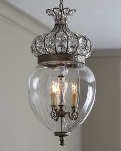 """Crown"" Pendant Chandelier at Horchow"