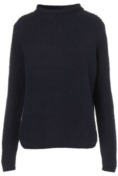 Knitted High Neck Rib Jumper