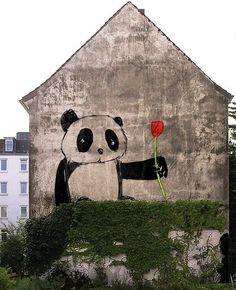 panda street art