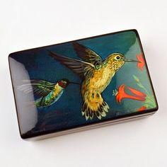 Arizona Hummingbirds Gift/Jewelry Box  by TheRussianStore on Etsy