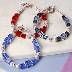Birthday Bracelets Celebrate your birthday every day of the year wearing a birthstone-color bracelet.