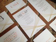 DIY Printable Old Hollywood Wedding Invitation by FiraPrintables