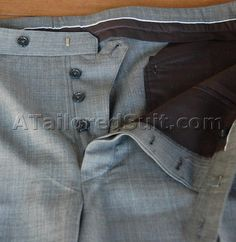 button fly men's trousers